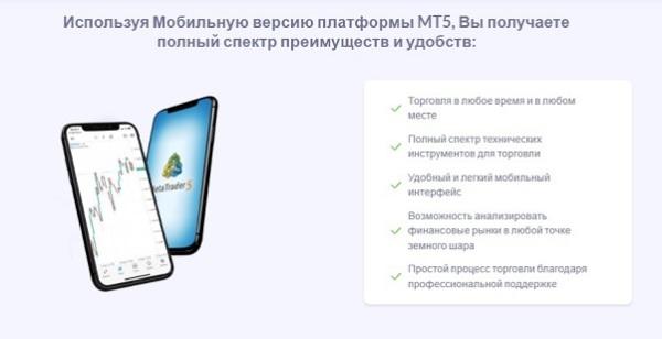 Мобильный трейдинг МТ5